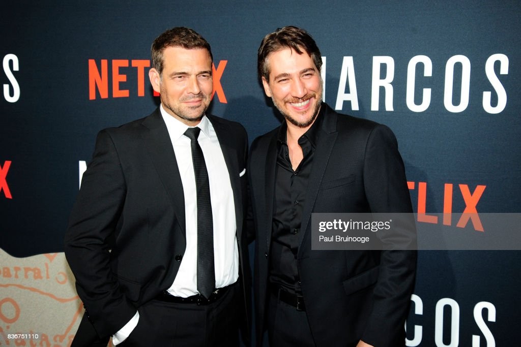 Pepe Rapazote and Alberto Ammann attend 'Narcos' Season 3 New York Screening - Arrivals at AMC Lincoln Square 13 Theater on August 21, 2017 in New York City.