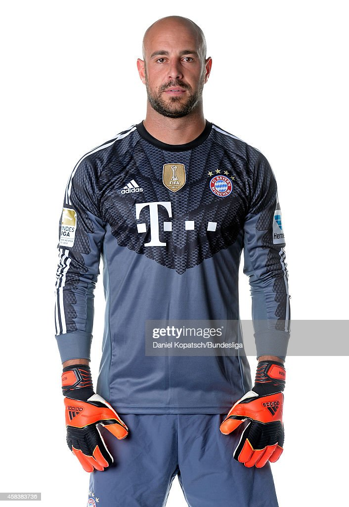 Pepe Reina poses during the FC Bayern Muenchen Team Presentation for DFL on August 9, 2014 in Munich, Germany.