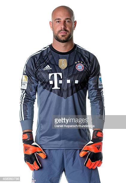 Pepe Reina poses during the FC Bayern Muenchen Team Presentation for DFL on August 9 2014 in Munich Germany