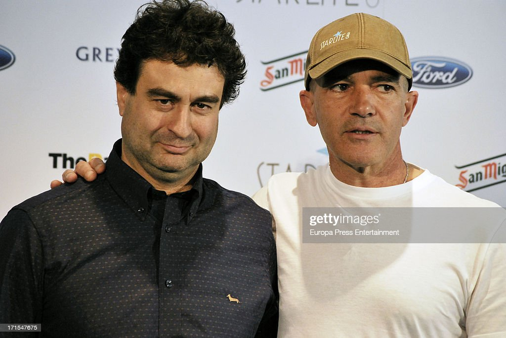 Pepe Rodriguez and Antonio Banderas present 'Starlite Gala' 2013 on June 25, 2013 in Madrid, Spain.