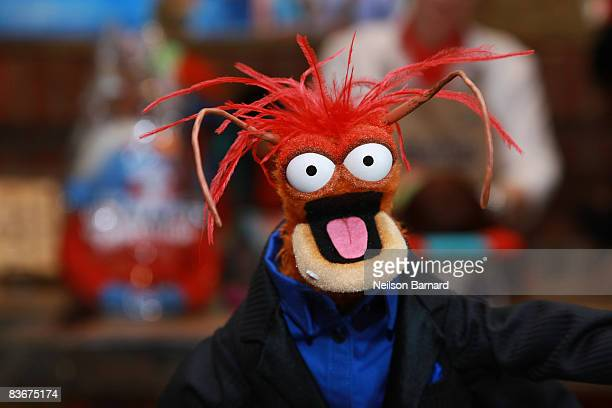 Pepe the King Prawn appears at the Whatnot Workshop at FAO Schwarz on November 11 2008 in New York City