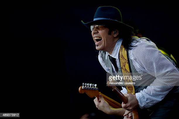 Pepeu Gomes from Baby do Brasil Pepeu Gomes performs at 2015 Rock in Rio on September 20 2015 in Rio de Janeiro Brazil