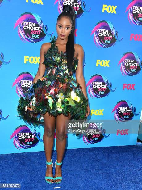 Pepi Sonuga arrives at the Teen Choice Awards 2017 at Galen Center on August 13 2017 in Los Angeles California