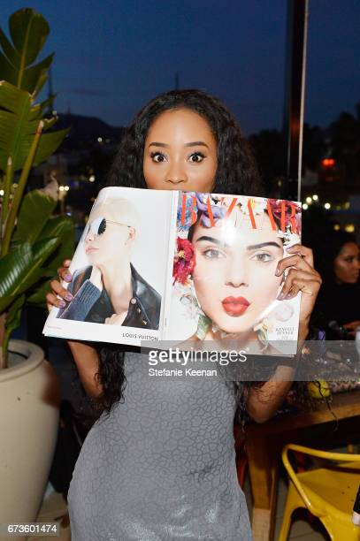 Pepi Sonuga attends harper x Harper's BAZAAR May Issue Event Hosted by The Stallone Sisters and Amanda Weiner Alagem at Mama Shelter Hollywood on...