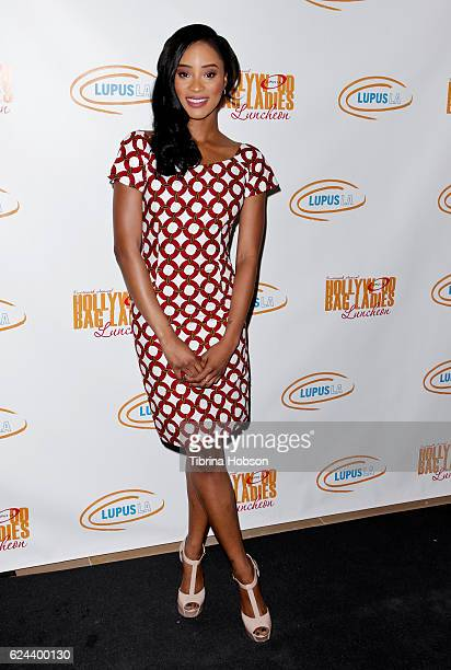 Pepi Sonuga attends the 14th annual Lupus LA Hollywood Bag Ladies Luncheon at The Beverly Hilton Hotel on November 18 2016 in Beverly Hills California