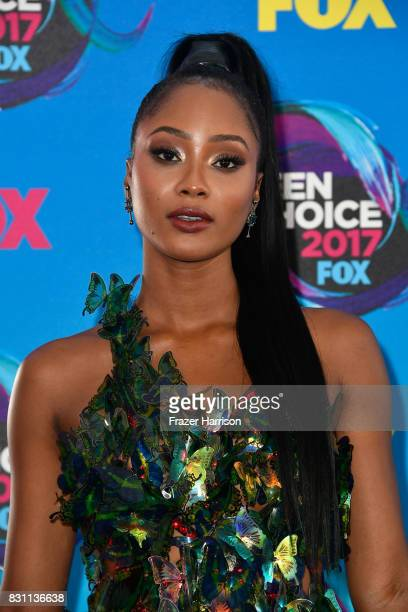 Pepi Sonuga attends the Teen Choice Awards 2017 at Galen Center on August 13 2017 in Los Angeles California