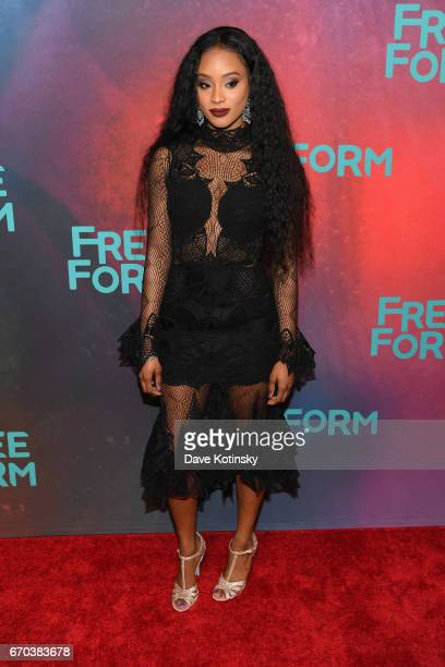 Pepi Sonuga of 'Famous In Love' attends Freeform 2017 Upfront at Hudson Mercantile on April 19 2017 in New York City