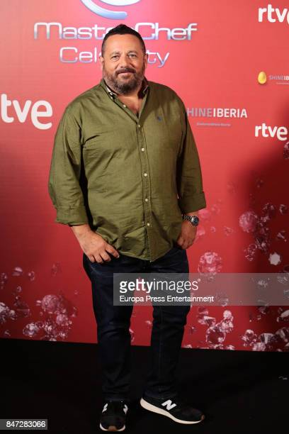 Pepon Nieto attends 'MasterChef Celebrity' 2 presentation on September 14 2017 in Madrid Spain