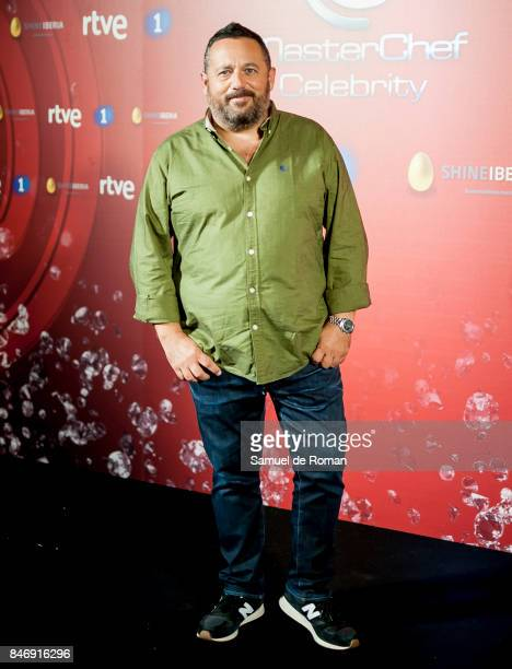 Pepon Nieto during 'MasterChef Celebrity' 2 presentation on September 14 2017 in Madrid Spain