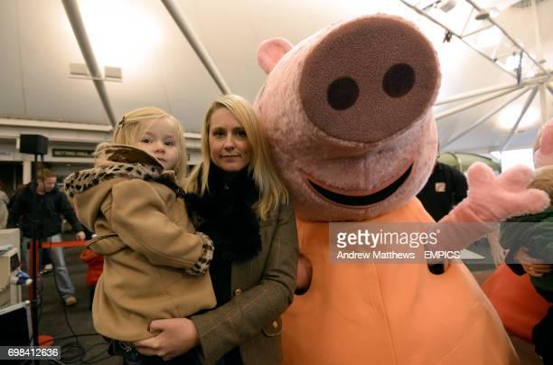 Peppa Pig and Mummy Pig in the Brightwells Sales Arena at Cheltenham Racecourse *Model Release Form Signed*