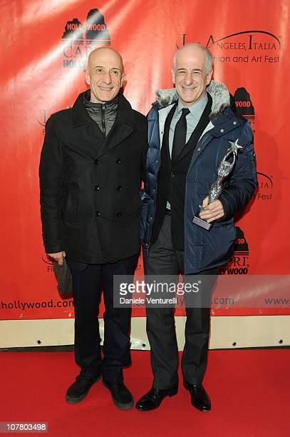 Peppe Servillo and Toni Servillo attend the second day of the 15th Annual Capri Hollywood International Film Festival on December 28 2010 in Capri...