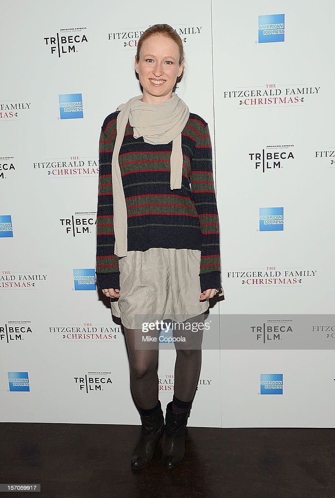 Pepper Binkley attends Tribeca Film's Special New York Screening Of 'The Fitzgerald Family Christmas' at Tribeca Grand Hotel on November 27, 2012 in New York City.