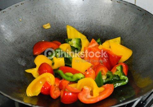 Pimienta carne fritos : Foto de stock