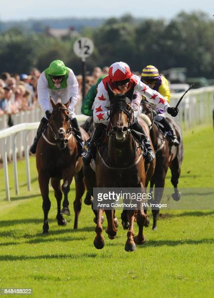 Pepper Lane ridden by Daniel Tudhope wins the William Hill Great St Wilfird Stakes during the William Hill Great StWilfrid Handicap day at Ripon...