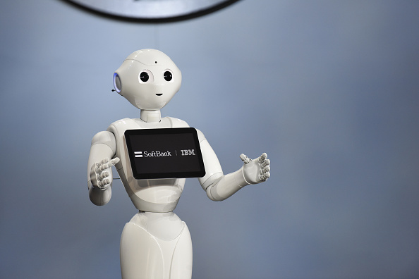 Interview with Pepper the humanoid robot from SoftBank Robotics foto