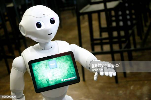 Pepper the robot attends the 2017 New Yorker TechFest at Cedar Lake on October 6 2017 in New York City