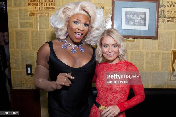 Peppermint and Kelly Ripa attend Logo TV Fire Island Premiere Party at Atlas Social Club on April 20 2017 in New York City