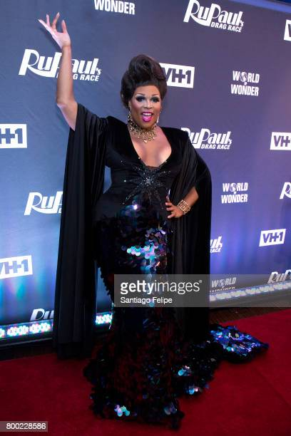 Peppermint attends 'RuPaul's Drag Race' Season 9 Finale Viewing Party at Stage 48 on June 23 2017 in New York City