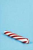 Peppermint Stick on Blue