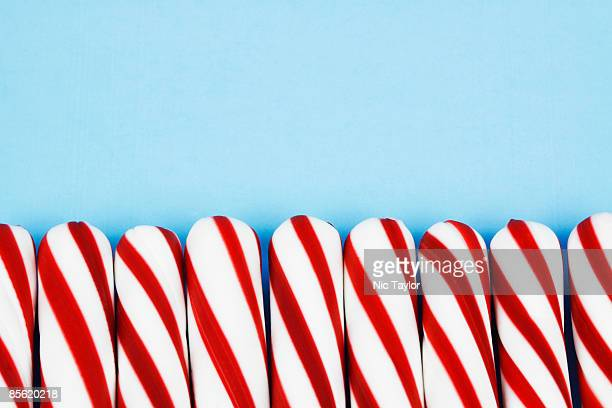 Peppermint Sticks on Blue