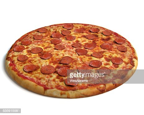Pizza de chorizo : Foto de stock