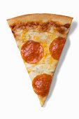Pepperoni pizza slice