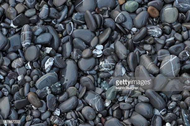 Pepples on beach, full frame