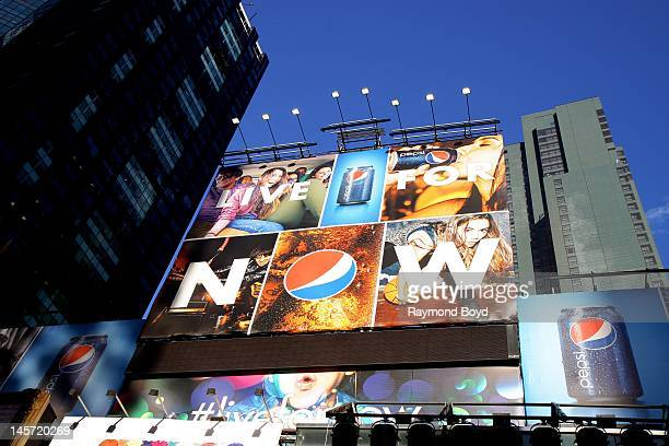 Pepsi billboard along Broadway in New York New York on MAY 11 2012