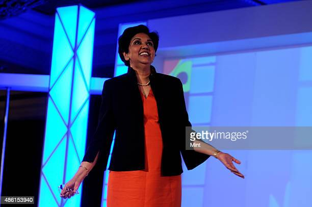Pepsico chairperson and CEO Indra Nooyi poses at Adasia2011 on November 3 2011 in New Delhi India