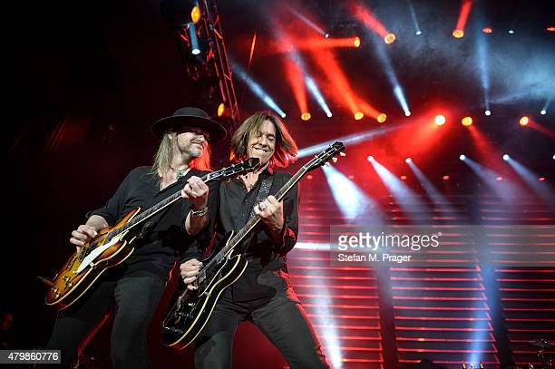 Per Gessle of Roxette performs at Olympiahalle on July 7 2015 in Munich Germany