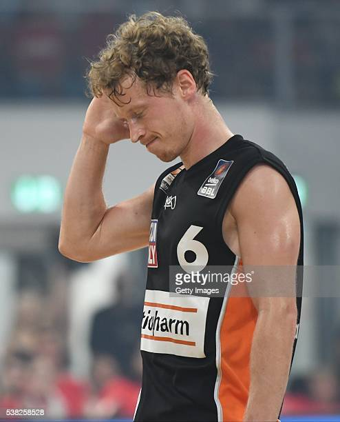 Per Günther looks on after the BEKO BBL Final game 1 between Brose Baskets Bamberg and ratipopharm Ulm at Brose Arena on June 5 2016 in Bamberg...