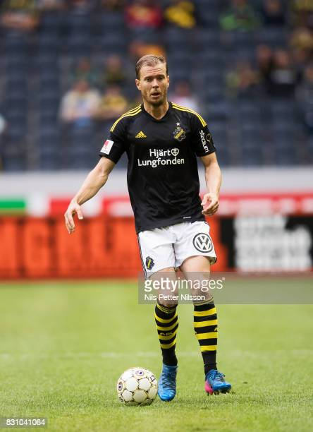 Per Karlsson of AIK during the Allsvenskan match between AIK and Athletic FC Eskilstura at Friends arena on August 13 2017 in Solna Sweden