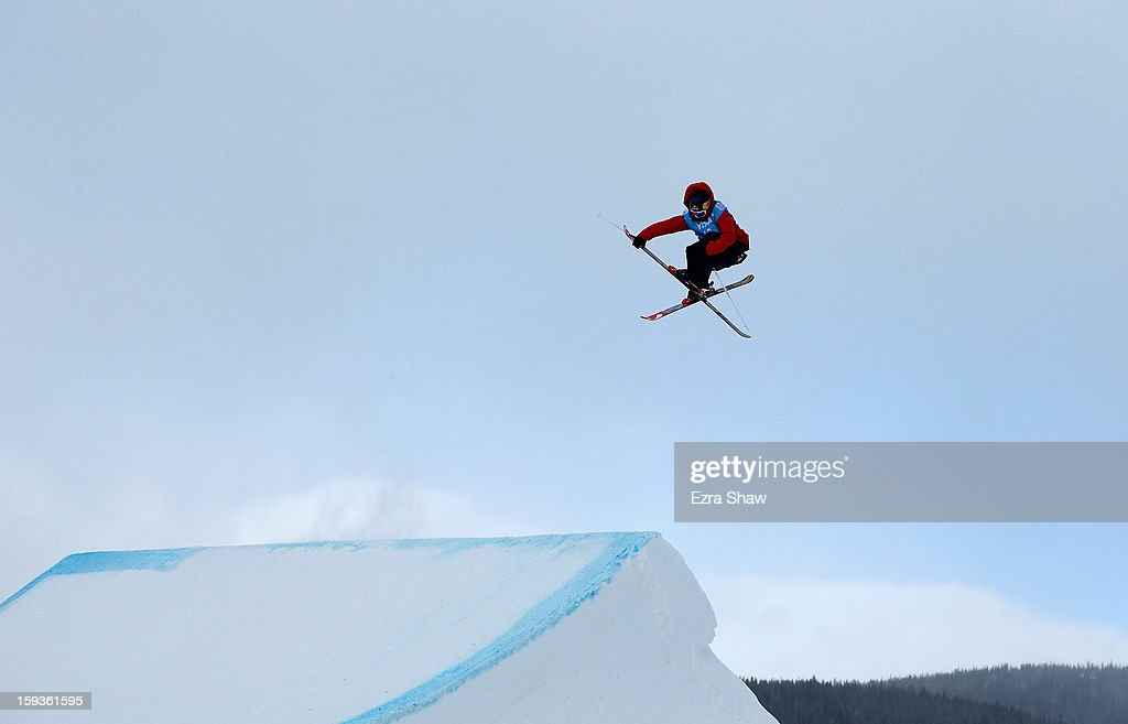 Per Kristian Hunder of Norway competes in the FIS Freestyle Ski World Cup men's slope style final at the U.S. Grand Prix on January 12, 2013 in Copper Mountain, Colorado.