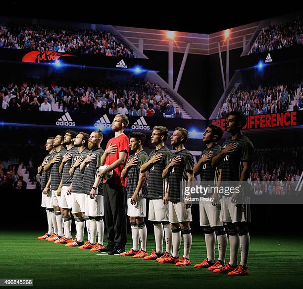 Per Mertesacker and Nicolas Kuehn of Germany join Creators to reveal the adidas Germany away kit for the UEFA 2016 Euro Championship at the World's...