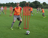 Per Mertesacker of Arsenal during a training session at London Colney on July 21 2016 in St Albans England
