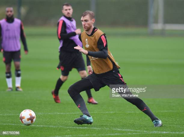 Per Mertesacker of Arsenal during a training session at London Colney on October 18 2017 in St Albans England