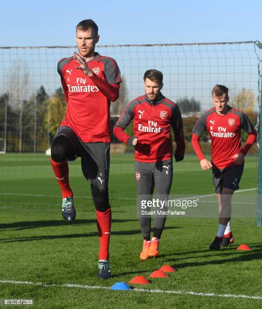 Per Mertesacker of Arsenal during a training session at London Colney on November 17 2017 in St Albans England