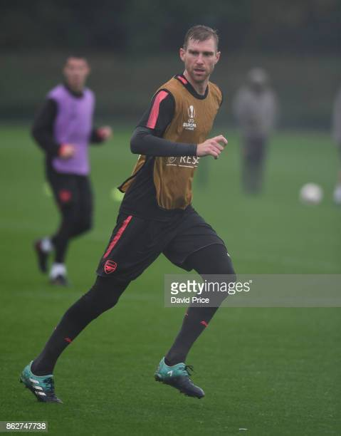 Per Mertesacker of Arsenal during the Arsenal Training Session at London Colney on October 18 2017 in St Albans England