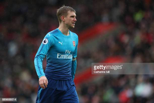 Per Mertesacker of Arsenal during the Premier League match between Southampton and Arsenal at St Mary's Stadium on December 10 2017 in Southampton...