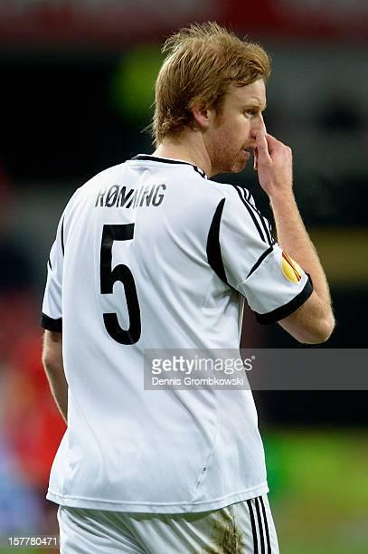 Per Ronning of Rosenborg Trondheim reacts during the UEFA Europa League Group K match between Bayer 04 Leverkusen and Rosenborg Trondheim at BayArena...