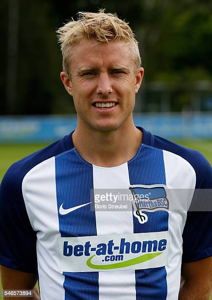 Per Skjelbred of Hertha BSC poses during the Hertha BSC Team Presentation on July 12 2016 in Berlin Germany