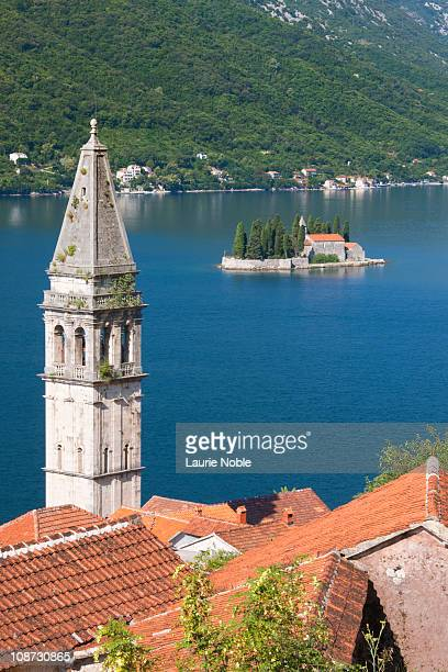 Perast with St George's Islands in background,