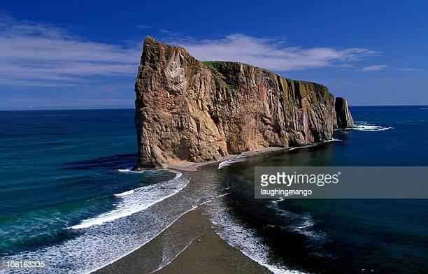 Perce Rock on Gaspe+E115529 Peninsular in Quebec, Canada