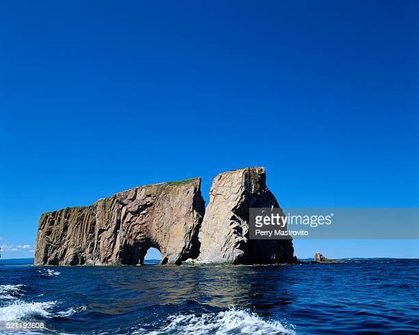 Perce Rock Rising from Ocean