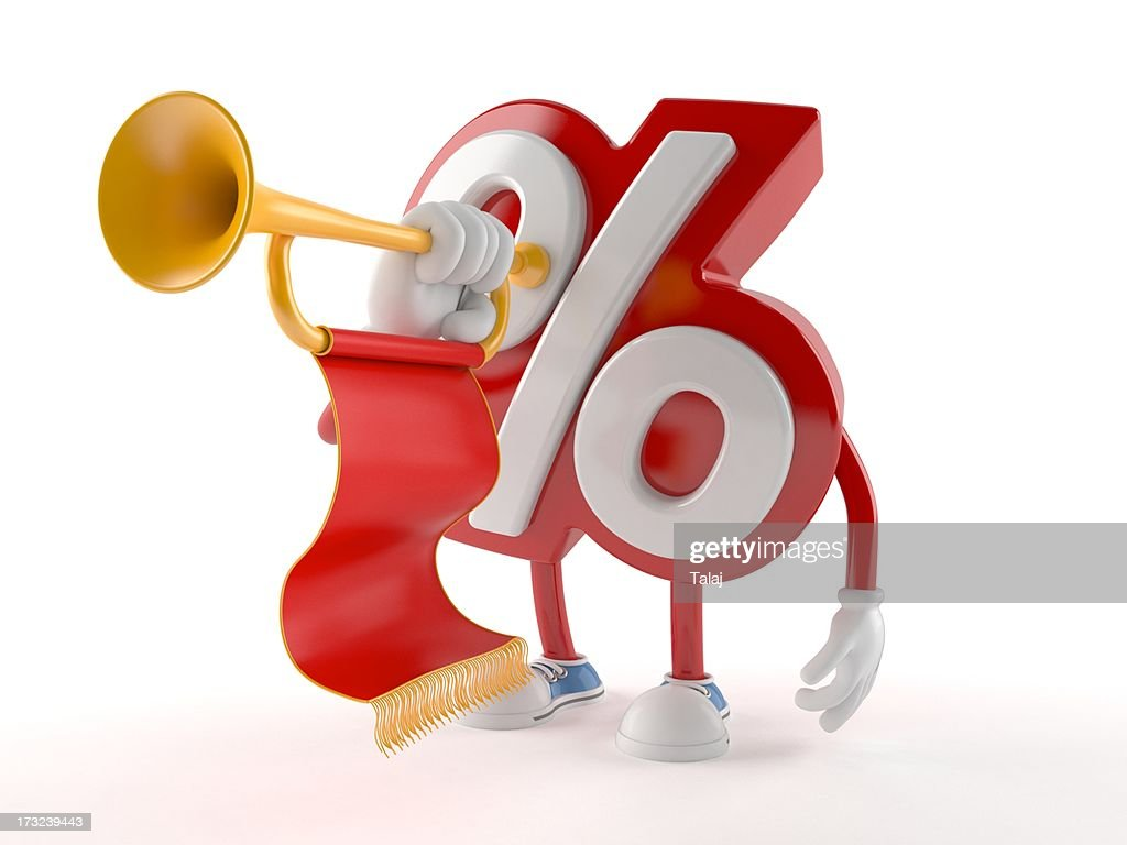 Percent : Stock Photo