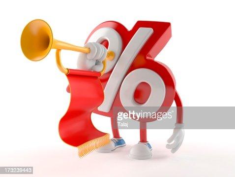 Percent : Stock Photo