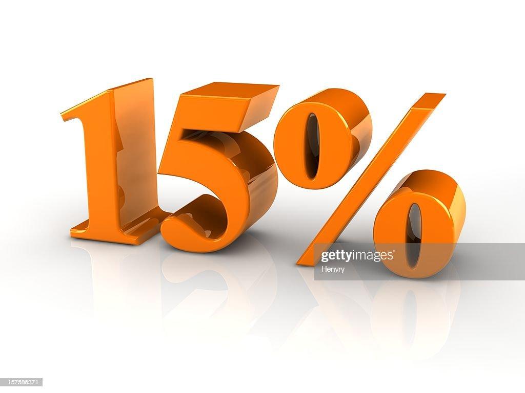 percentage sign 15%