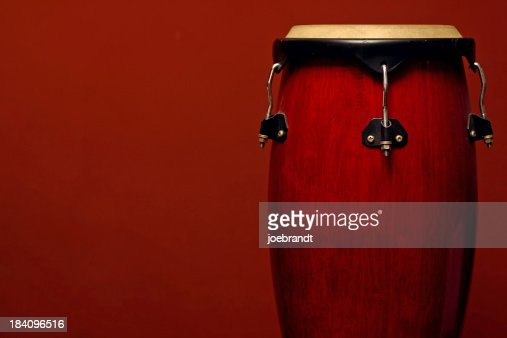 Percussion Instrument on Red