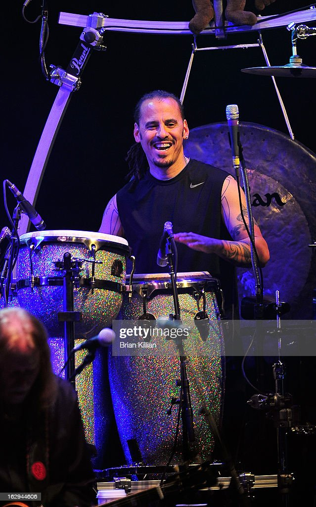 Percussionist Marc Quinones of The Allman Brothers Band performs at Beacon Theatre on March 1, 2013 in New York City.