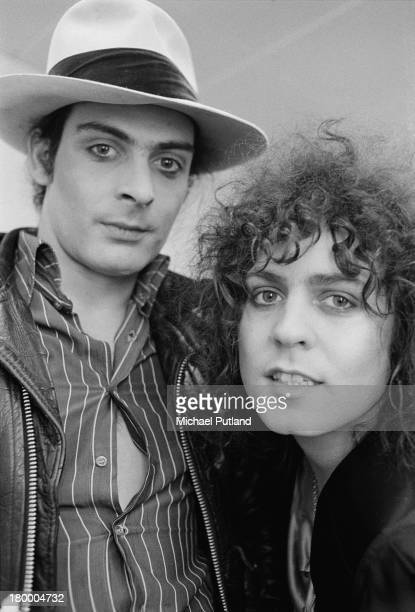 Percussionist Mickey Finn and singer Marc Bolan of British glam rock group TRex 4th June 1973